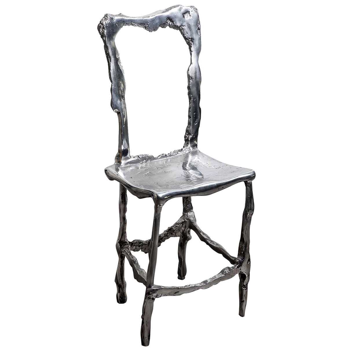Cast Aluminum Scultura Decorative Chair