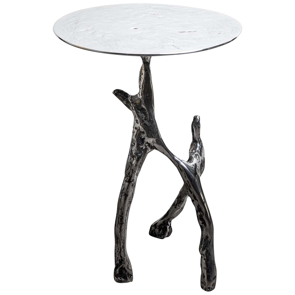 Cast Aluminum Scultura Side Table