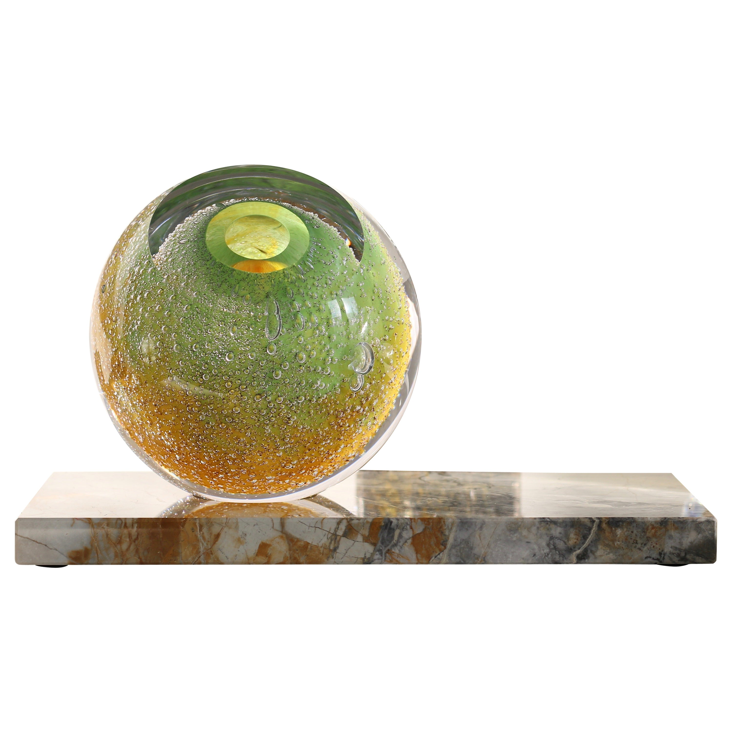 'Venus Eye' Mouth-Blown Glass Vase on Marble by Experimental, 2019