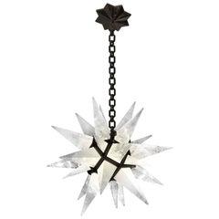 Contemporary Rock Crystal Quartz Star Chandelier