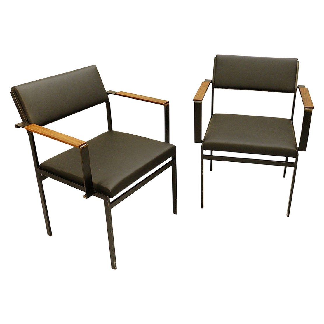 FM17 Japanese Series Chair by Cees Braakman for Pastoe, 1950s, Faux-Leather