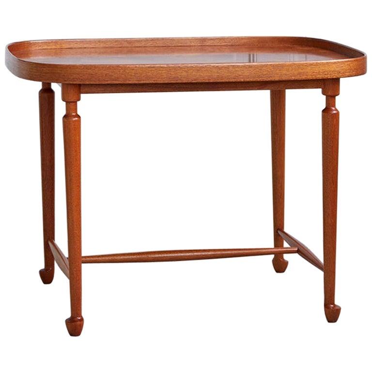 Swedish 1950s Mahogany Side Table Designed by Josef Frank for Svenskt Tenn