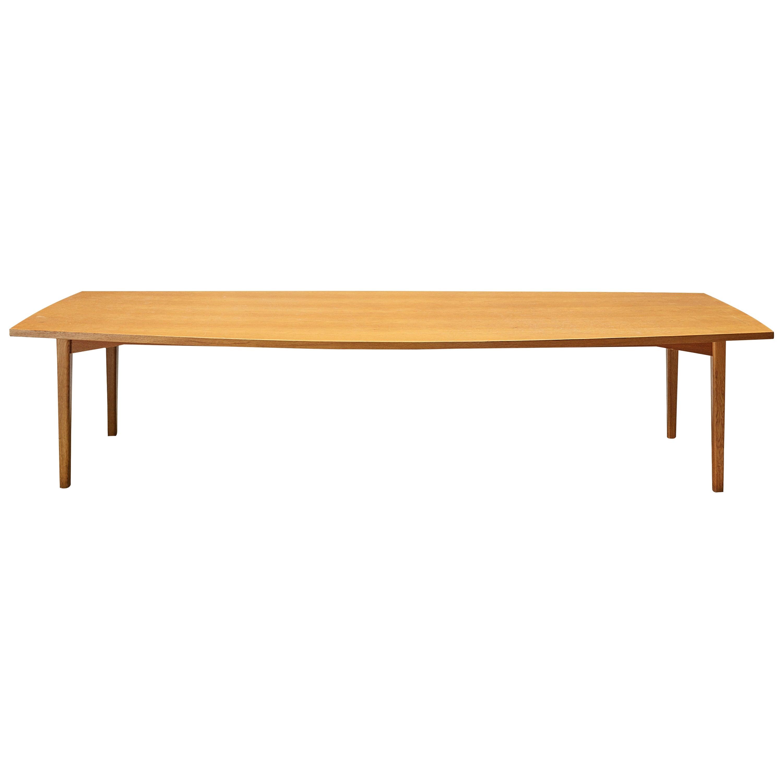 Danish Barrel Shaped Conference Table in Teak