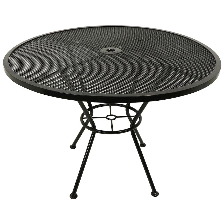 Round Patio Garden Dining Table Attributed to Woodard