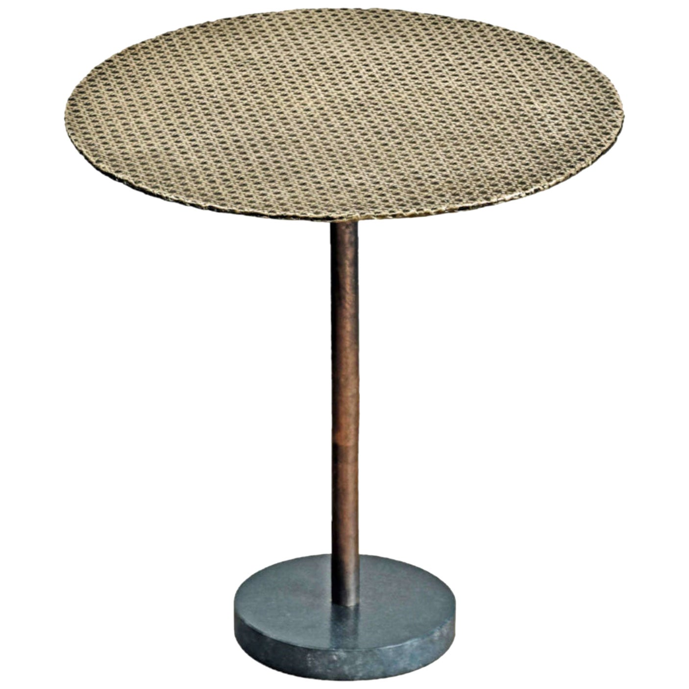 Irene Maria Ganser Emilie Side Table in Bronze and Marble