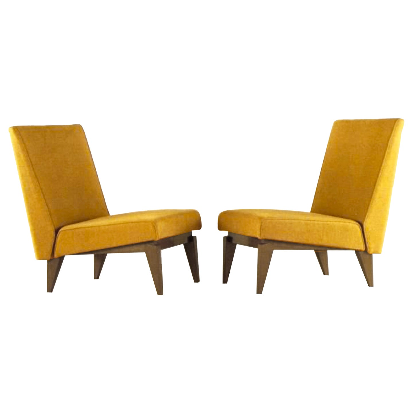 Maxime Old Love Seat in Fabric and Oak