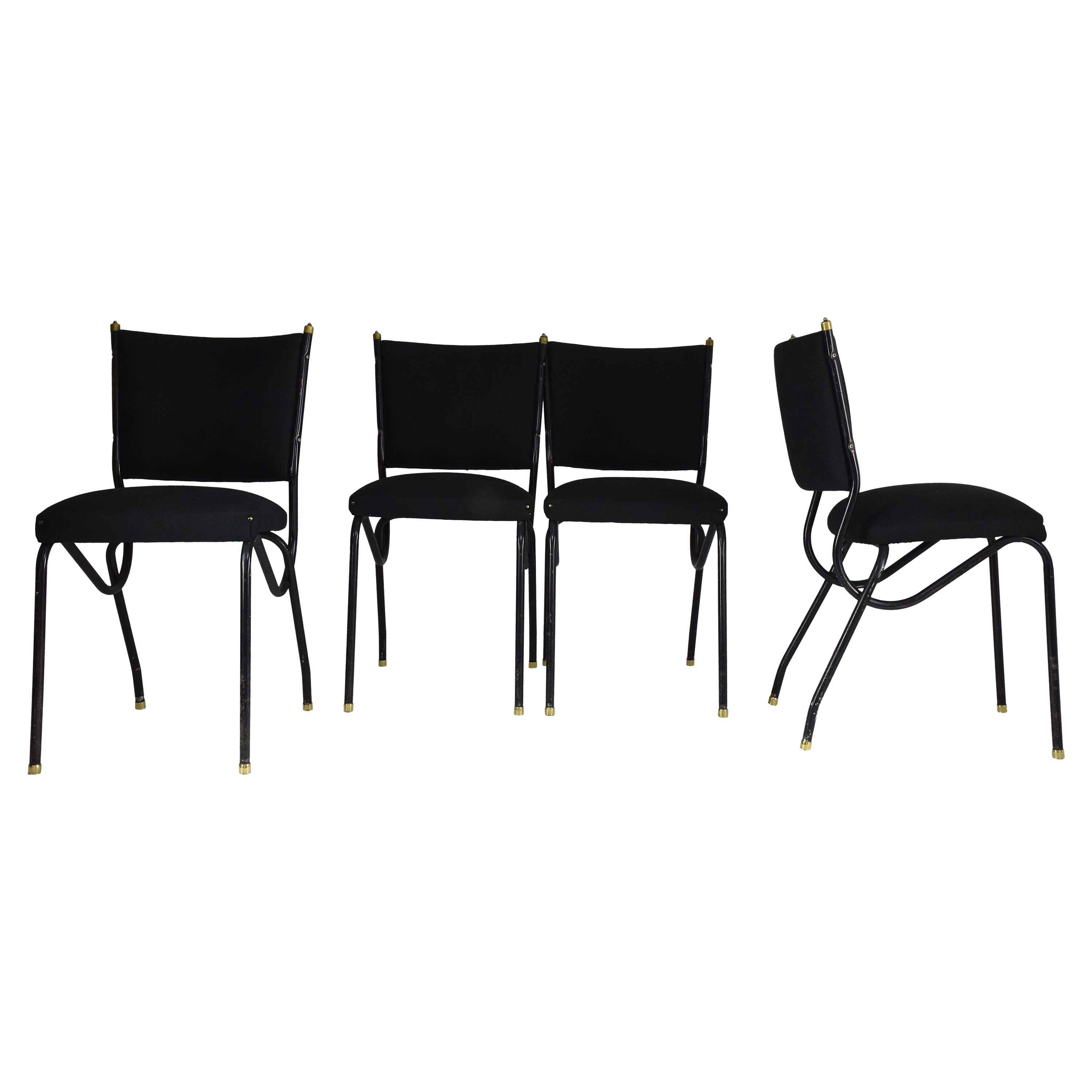 20th Century Italian BBPR Style Dining Chairs, Set of 4, 1950s