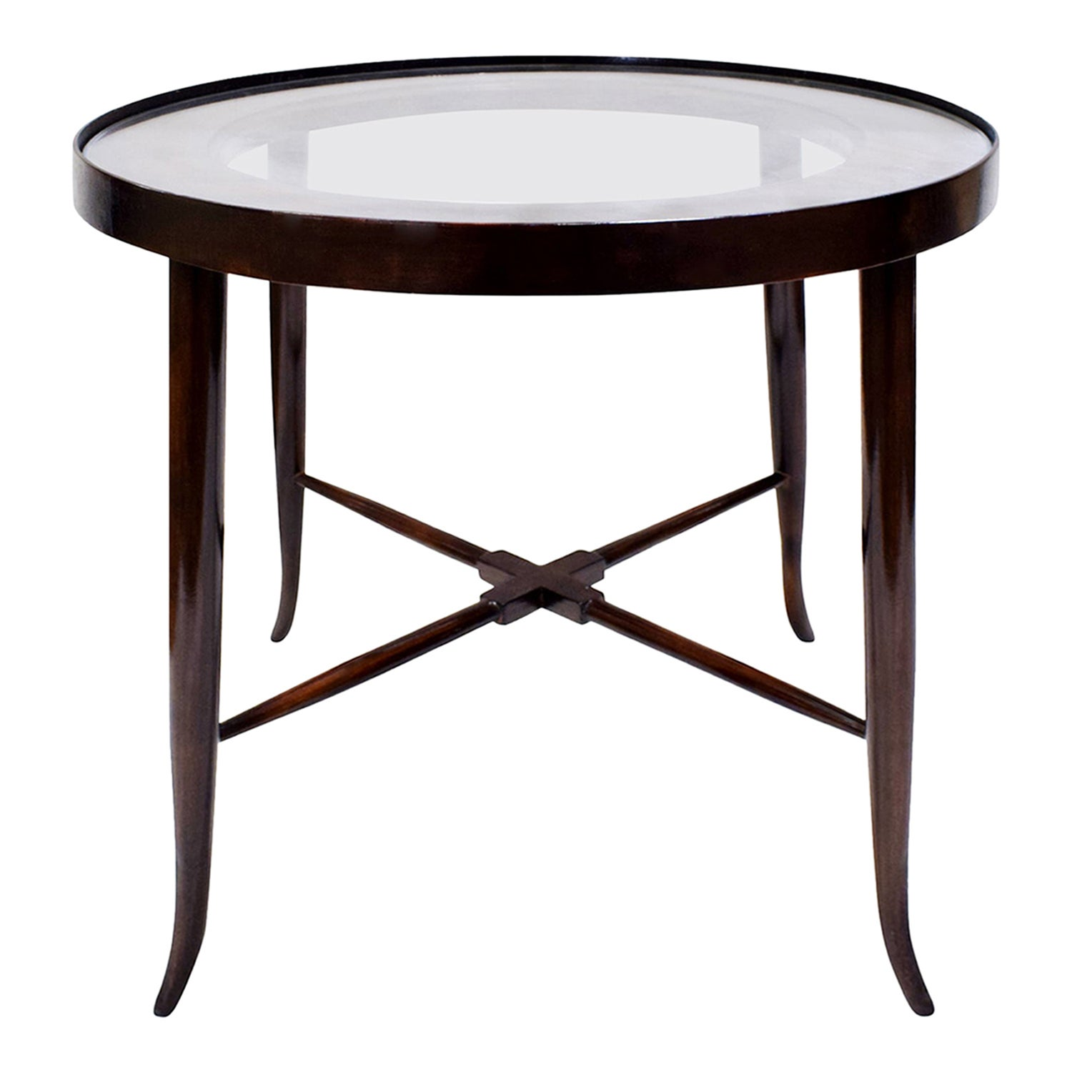 Tommi Parzinger Elegant Side Table With Tapering Legs, 1950s