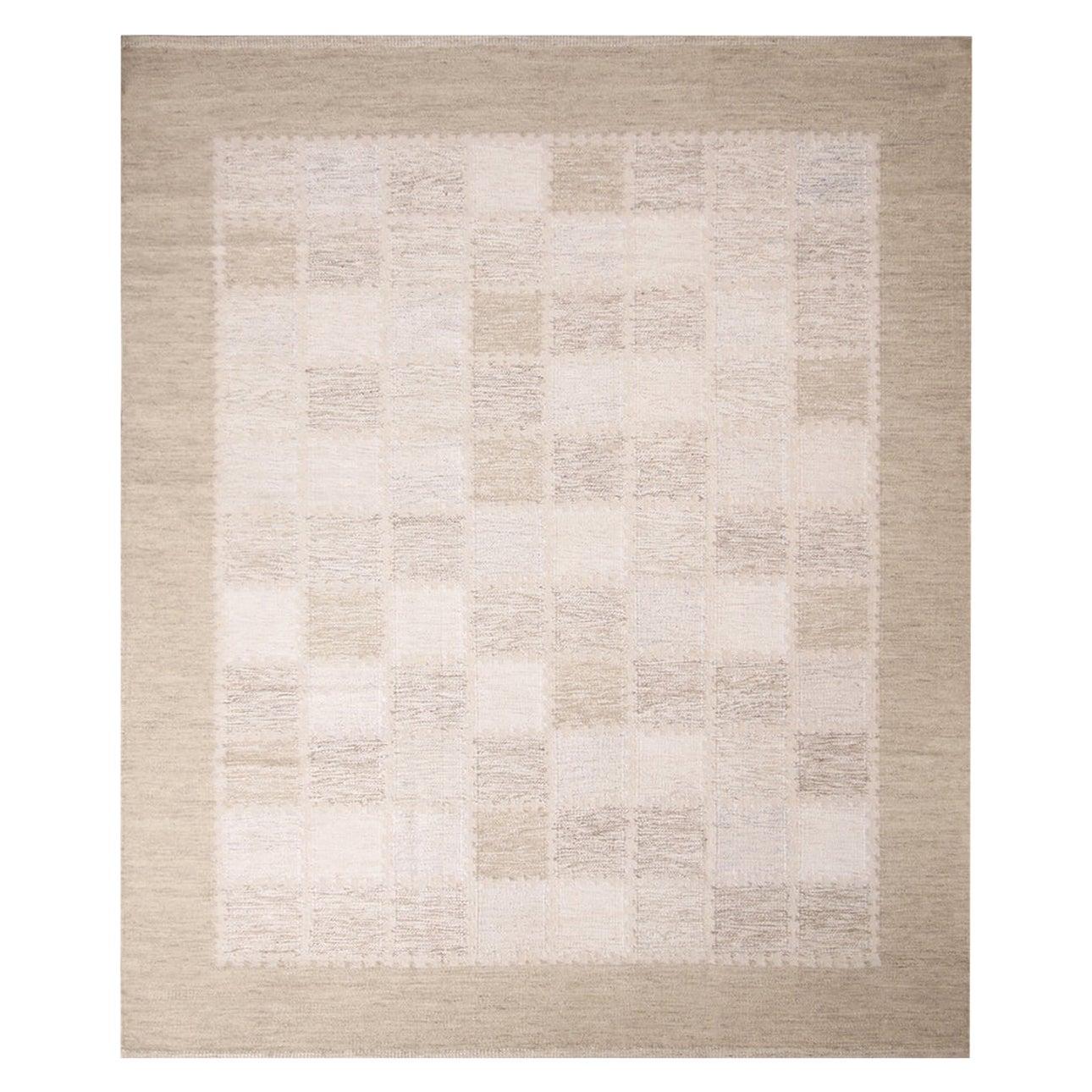 Rug & Kilim's Scandinavian-Inspired Beige Gray and Light Brown Wool Pile Rug