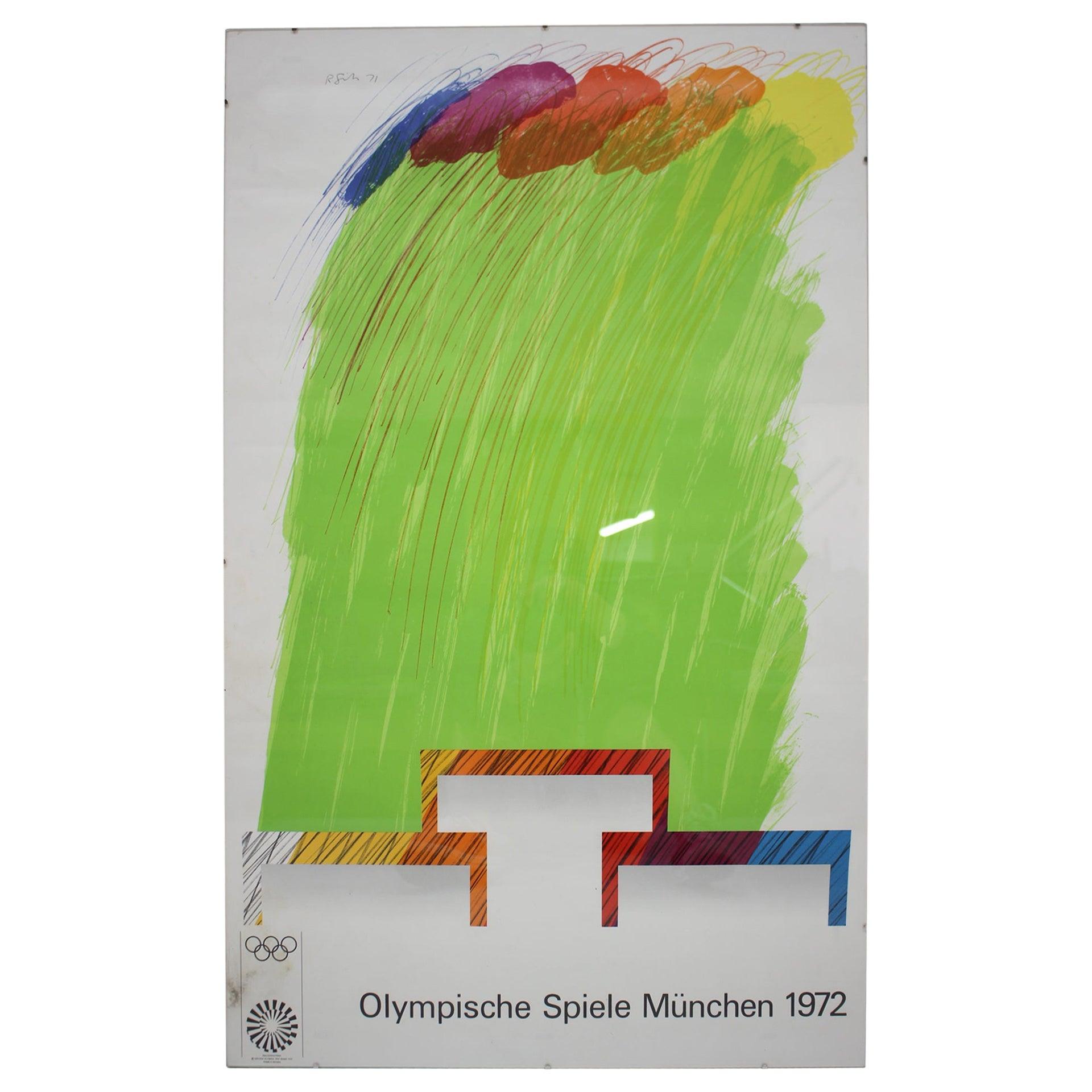 Olympic Games Munich 1972 Poster / Olympische Spiele München, by Richard Smith