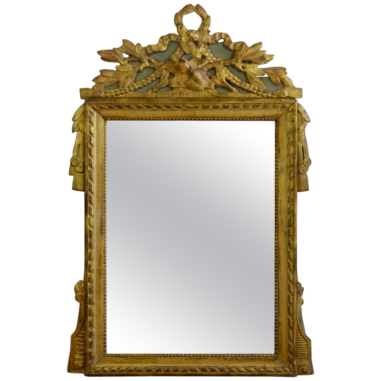 Louis XVI Period Marriage Trumeau Mirror with Birds