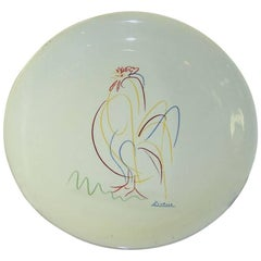 Hand-Painted Decorative Plate in the Style of Picasso