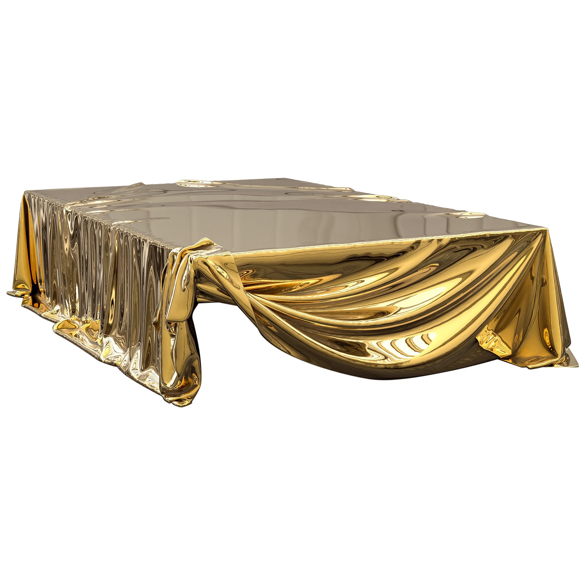 Levitaz Coffee Table Polished Cast Bronze