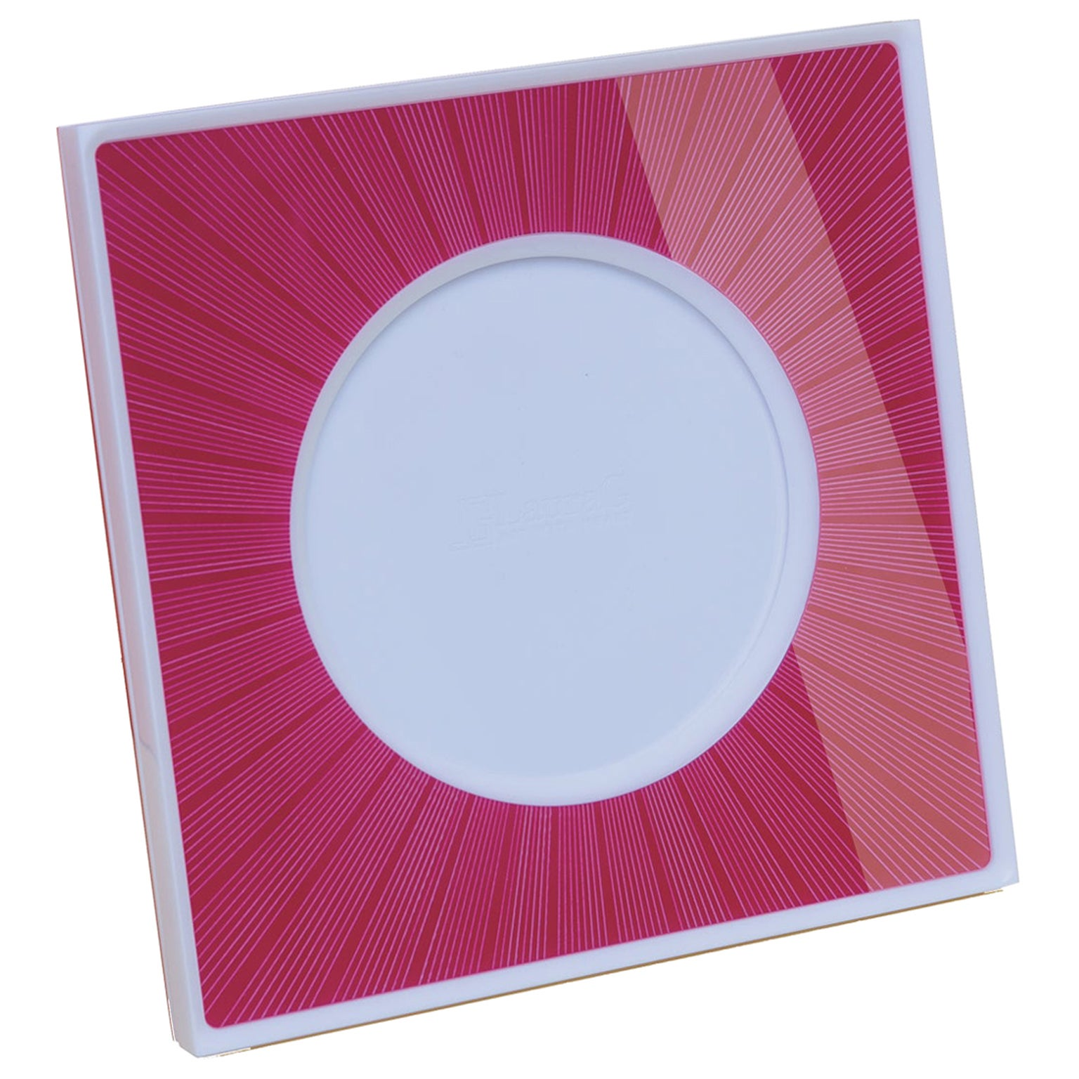Italian Pop Design Shocking and White Plexiglass Picture Frame, Sharing Shocking