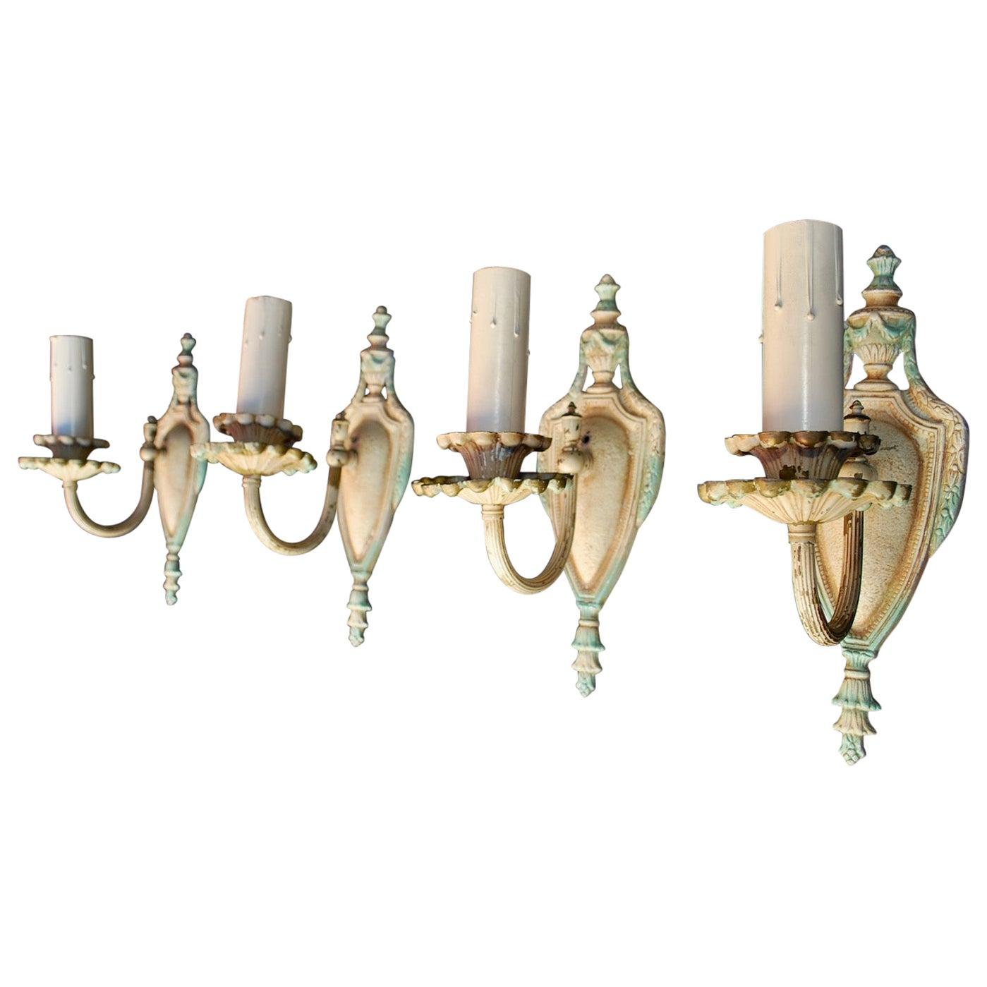 Elegant Set of Four 1920s Sconces