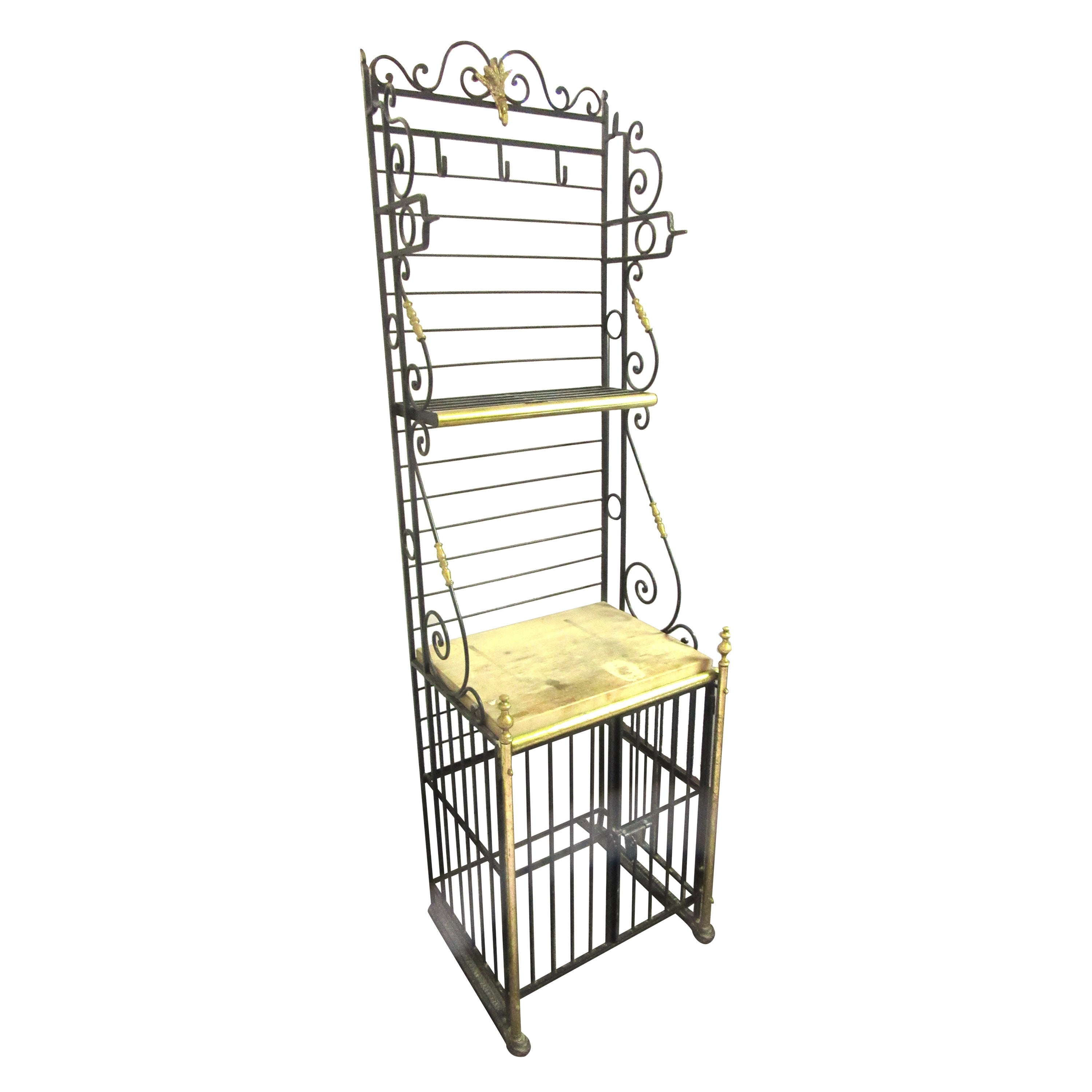 French Wine and Cheese Baker's Rack or Bar Unit