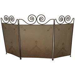 American Mission Wrought Iron Fire Screen