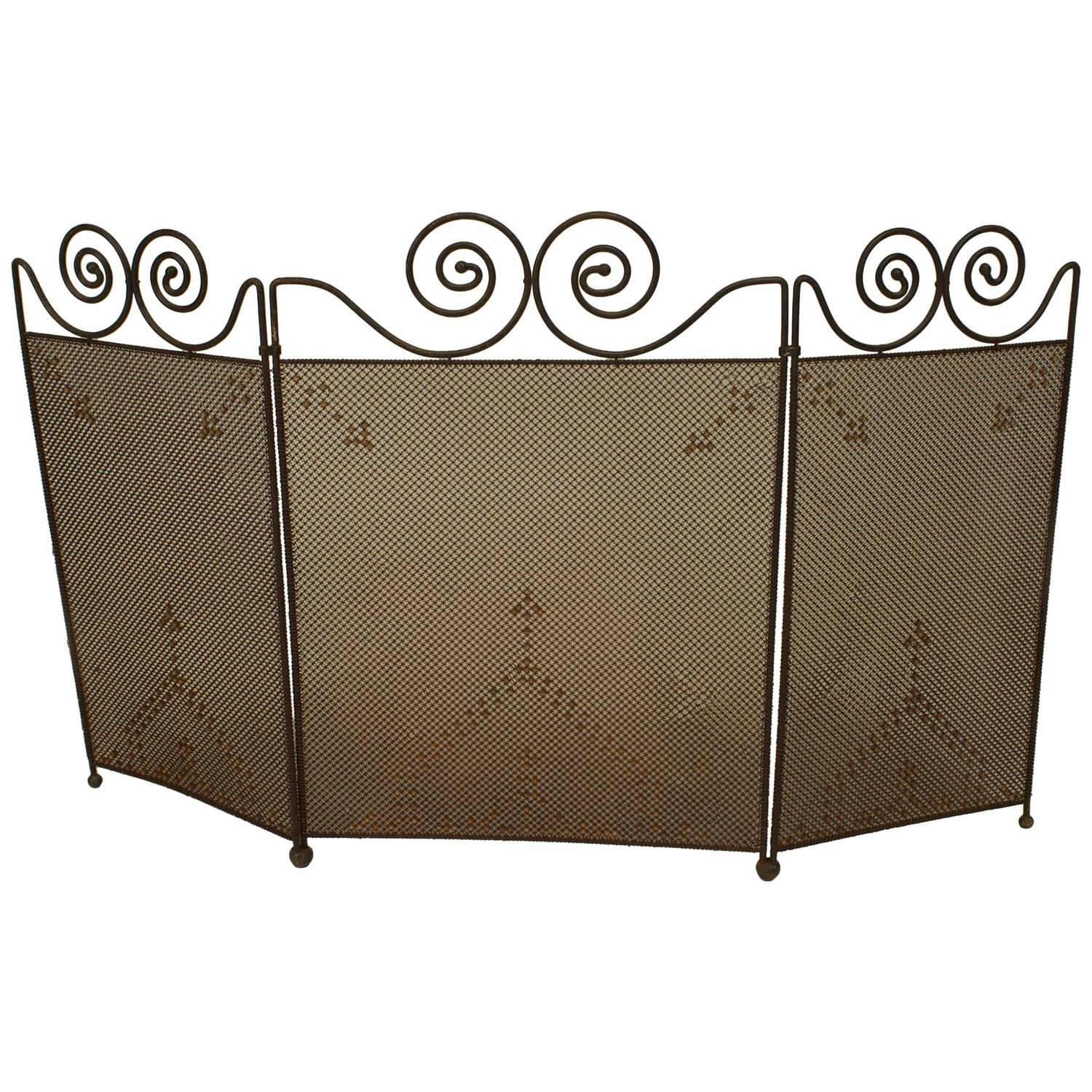 American Mission Wrought Iron Fire Screen For Sale At 1stdibs
