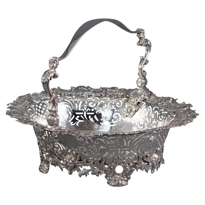 George II Silver Basket, London, 1739