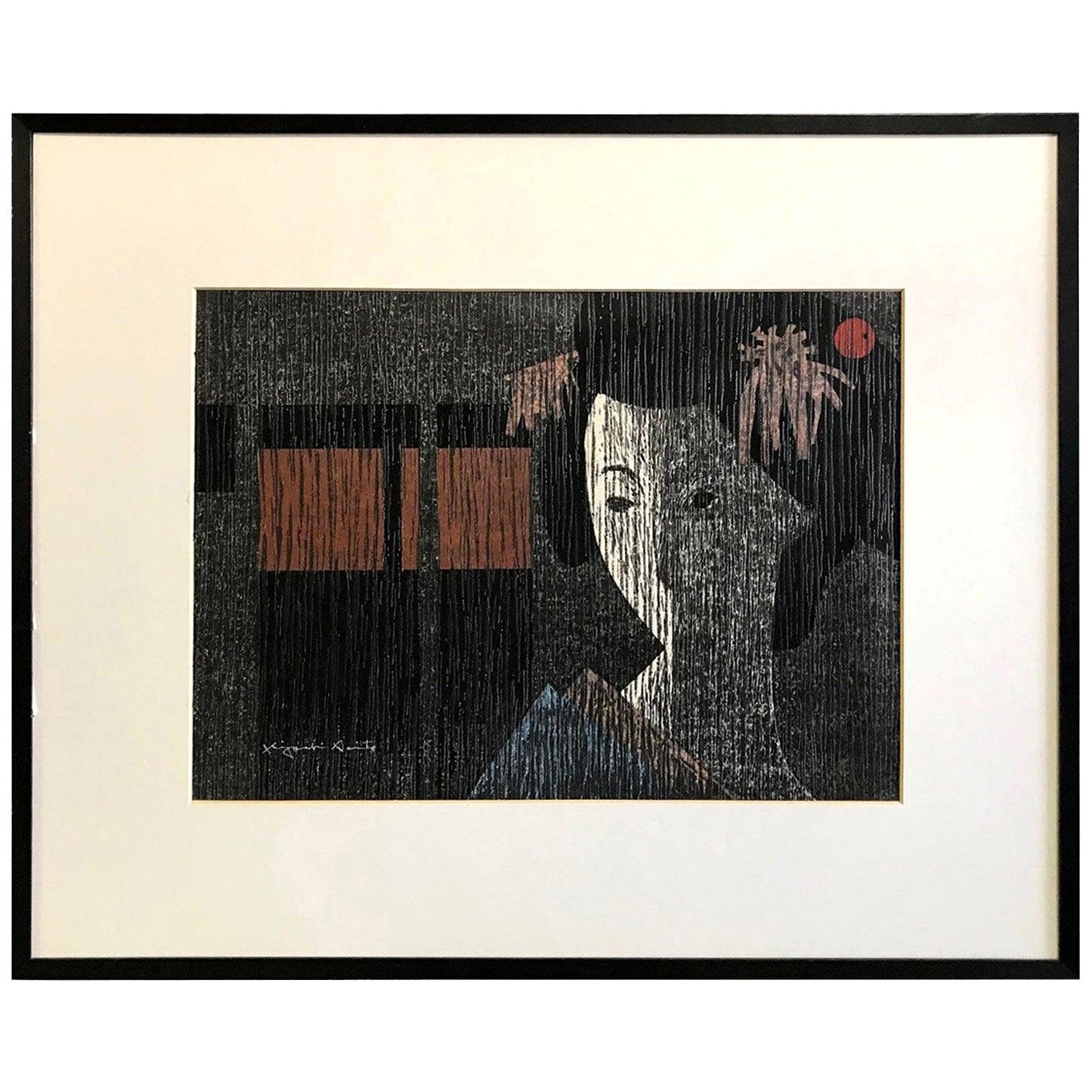 Kiyoshi Saito Signed Limited Edition Japanese Woodblock Print Kyoto, 1971