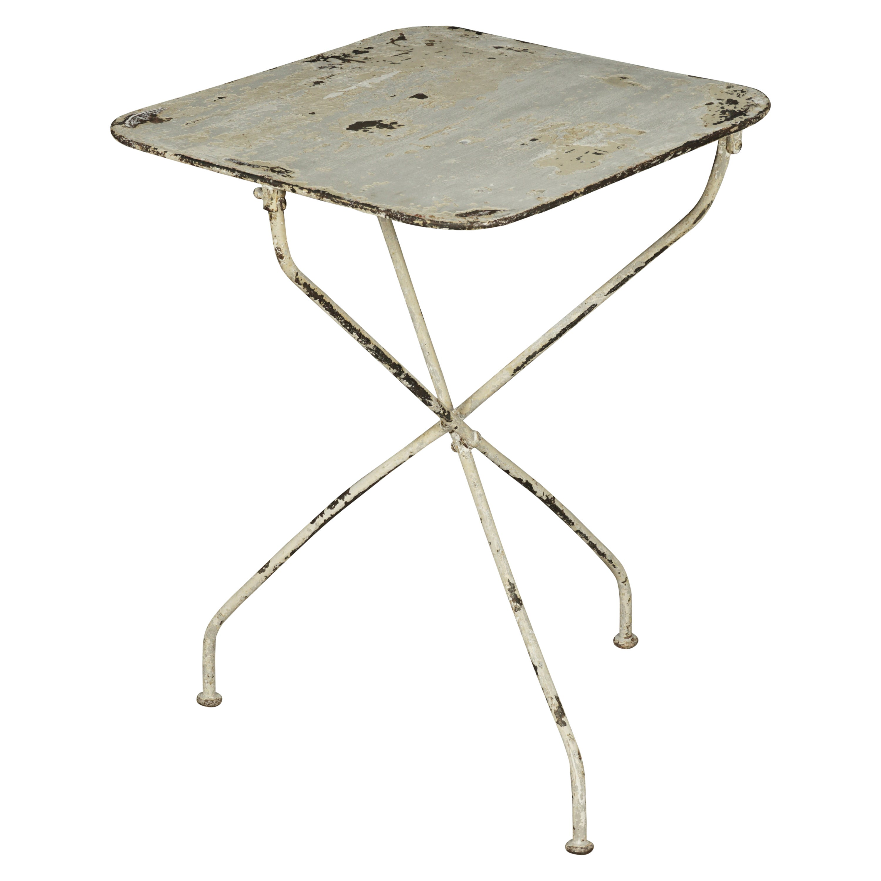 Vintage Metal Bistro Table From France, 1950s