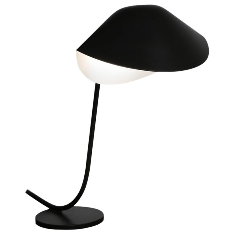 Serge Mouille Mid-Century Modern Black Antony Table Lamp