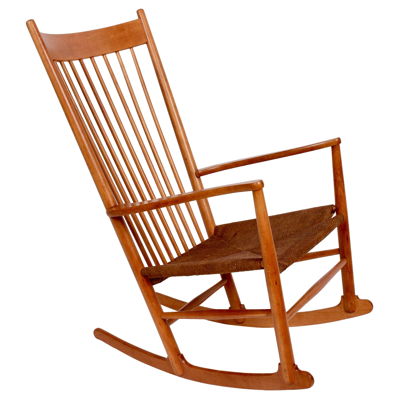Hans Wegner J16 Beech Rocking Chair, circa 1950