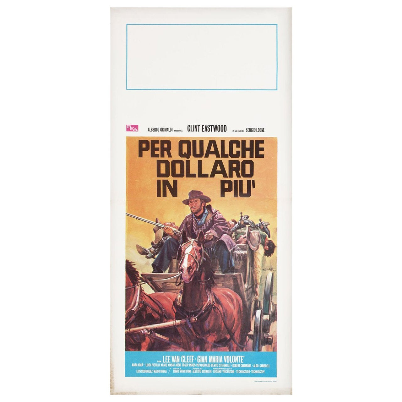 For a Few Dollars More R1971 Italian Locandina Film Poster