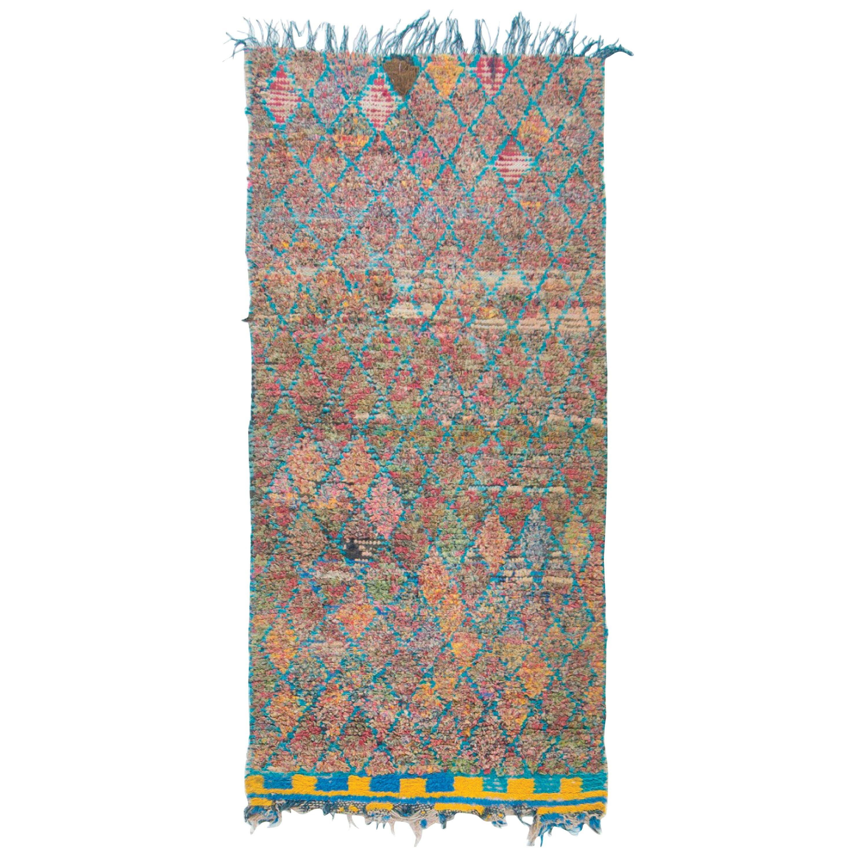Vintage Moroccan Azilal Tribe Rug