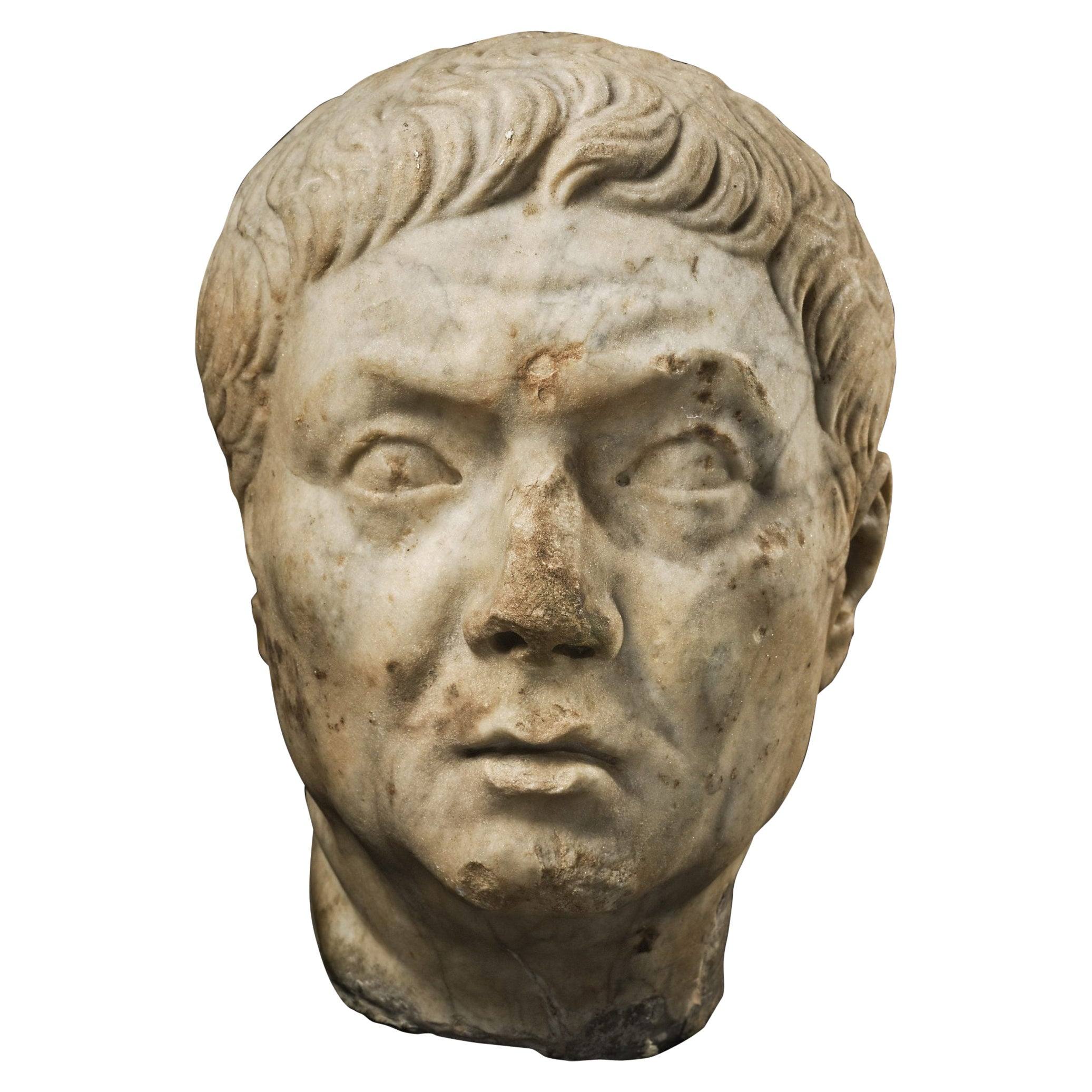 Roman Marble Head of a Magistrate, 1st Century A.D , Provenance