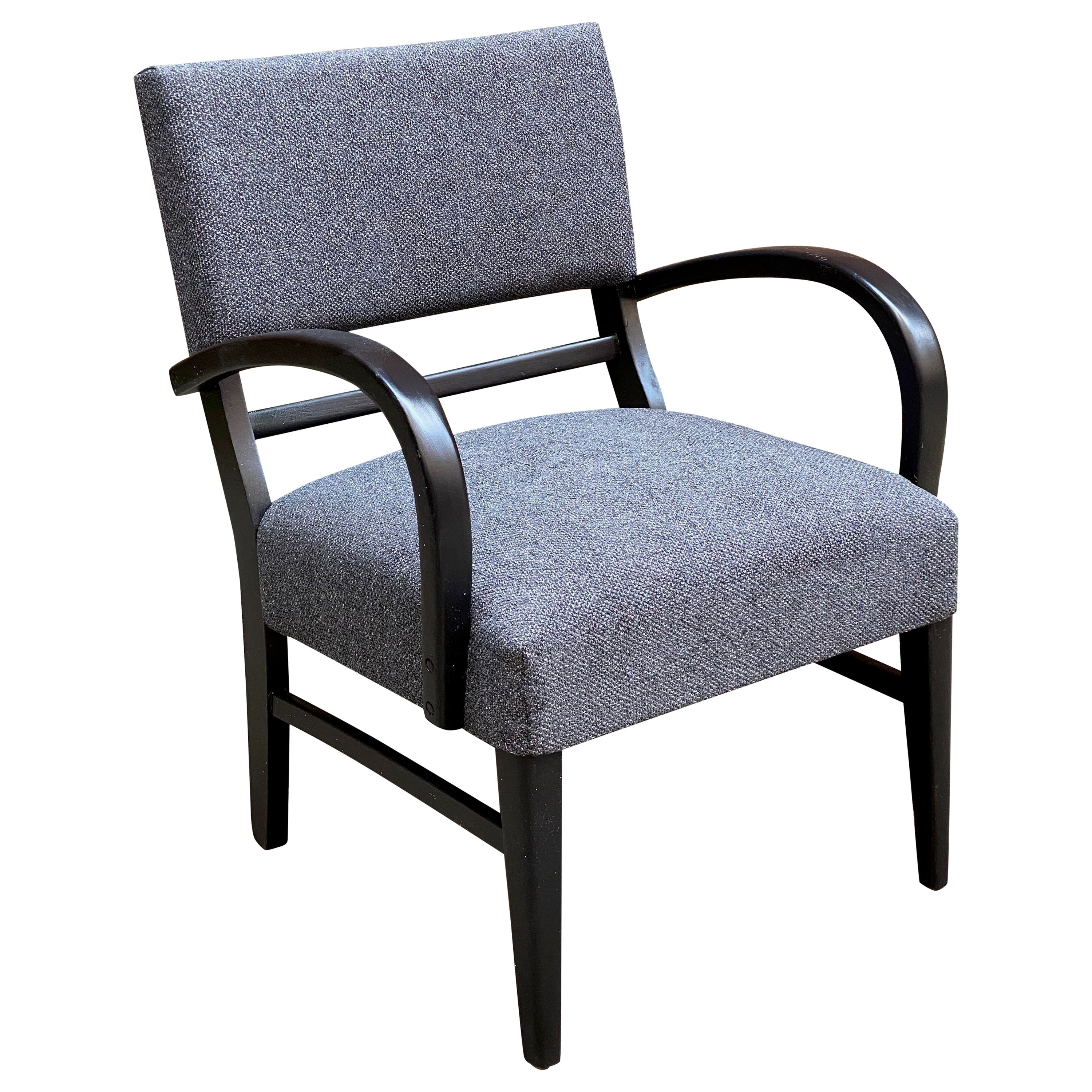 1940s Moderne Bow Arm Lounge Chair