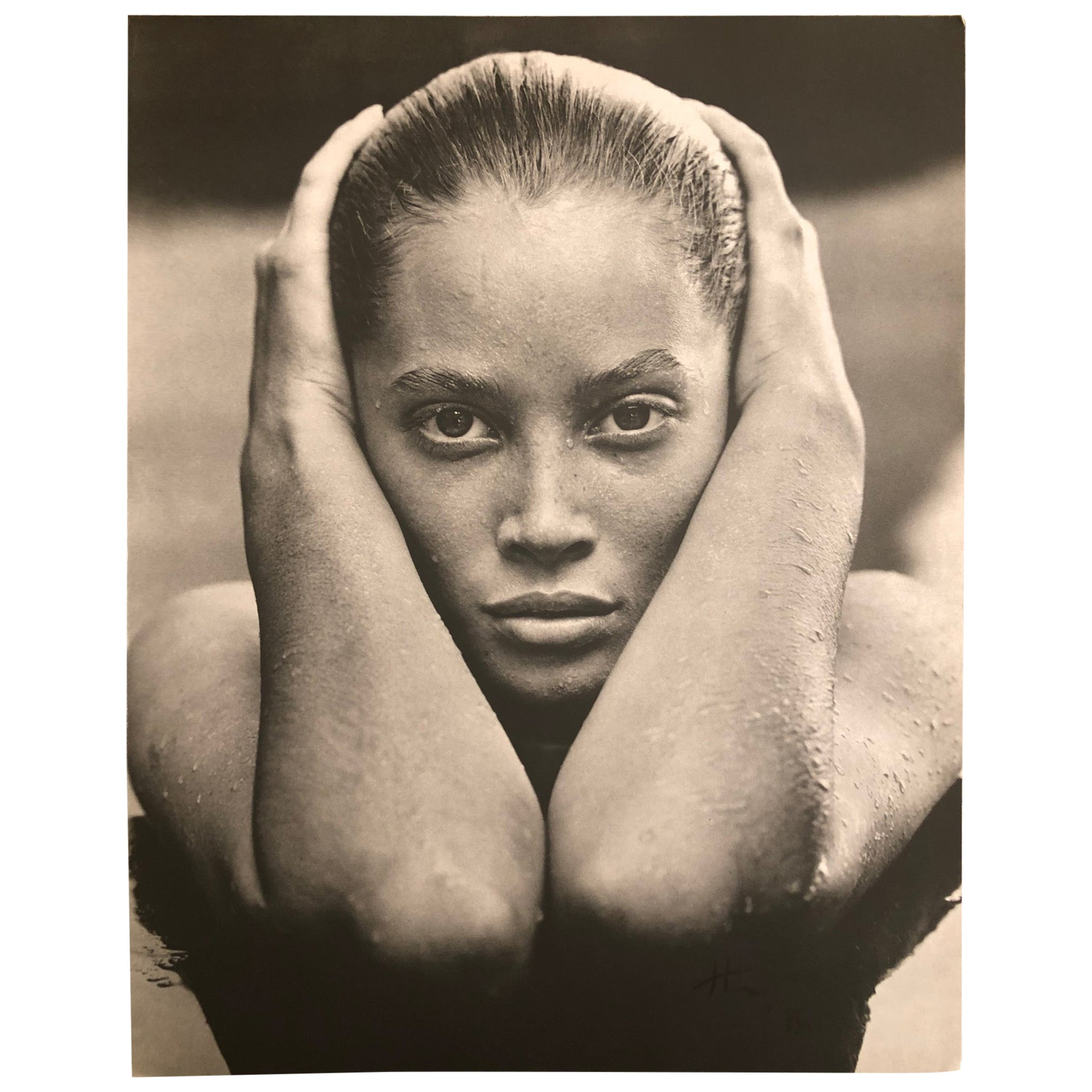 Herb Ritts Signed Photo, Christy Turlington