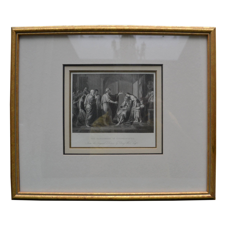 19th Century Engraving of Benjamin West 's the Banishment of Cleombrotus