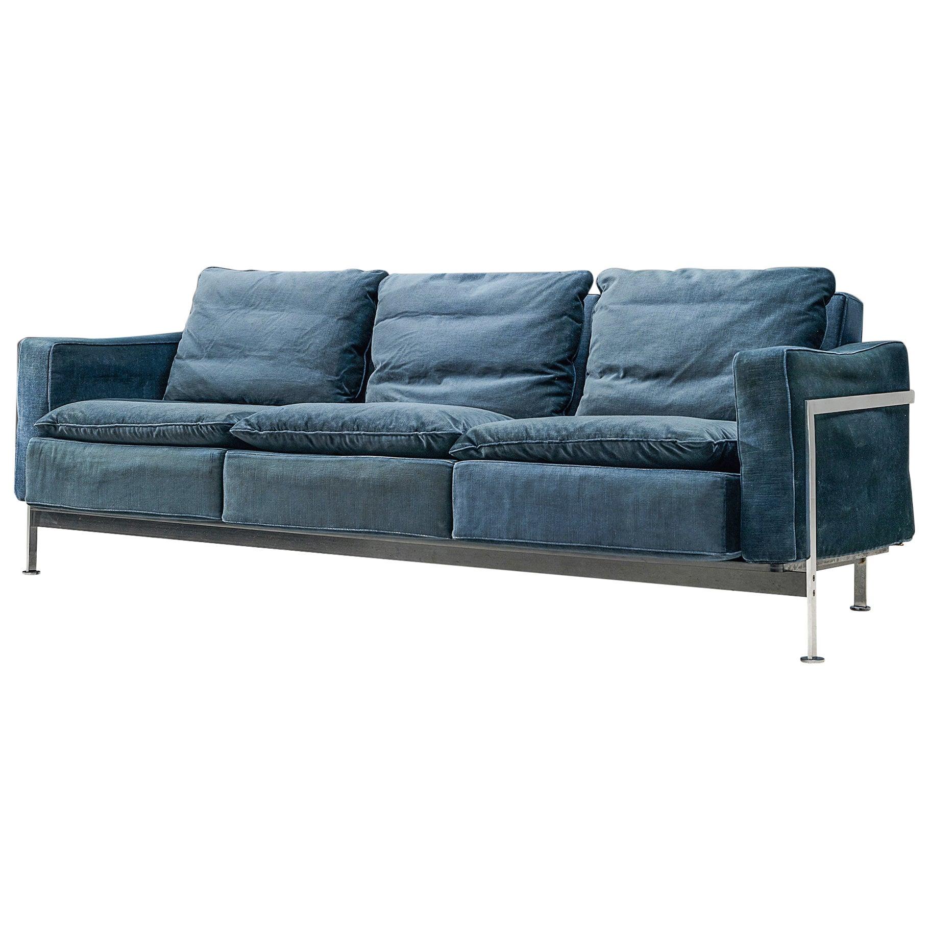 Robert Haussmann for De Sede Velvet Sofa