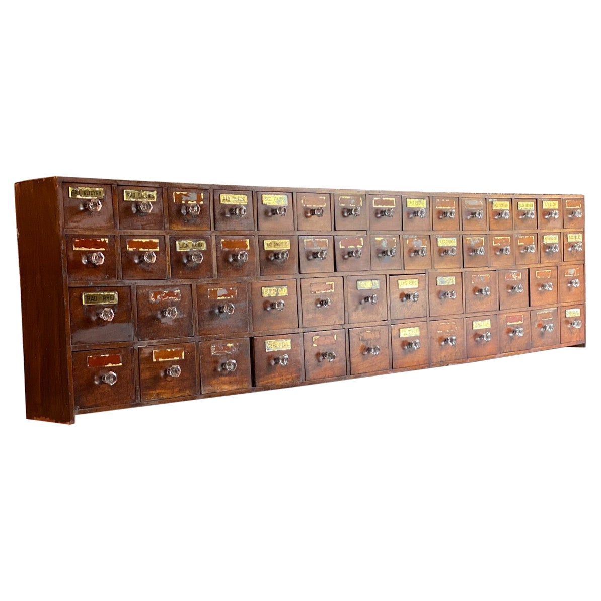 Antique Apothecary Chest of Drawers Chemist Pharmacy Victorian circa 1870