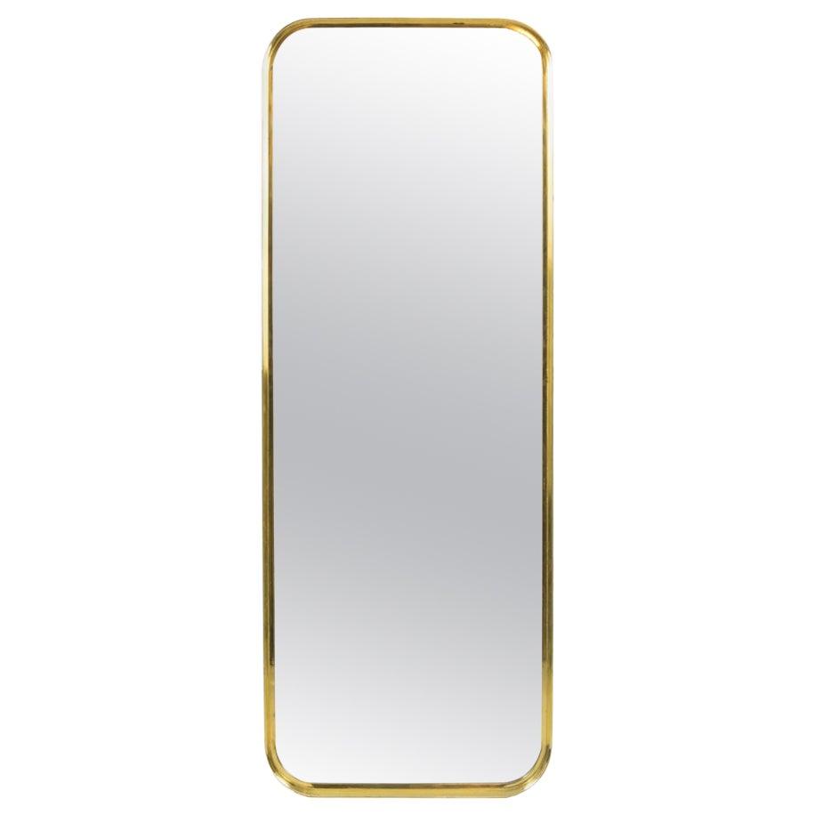 Rectangular Mirror in Gilt Brass, 1970s