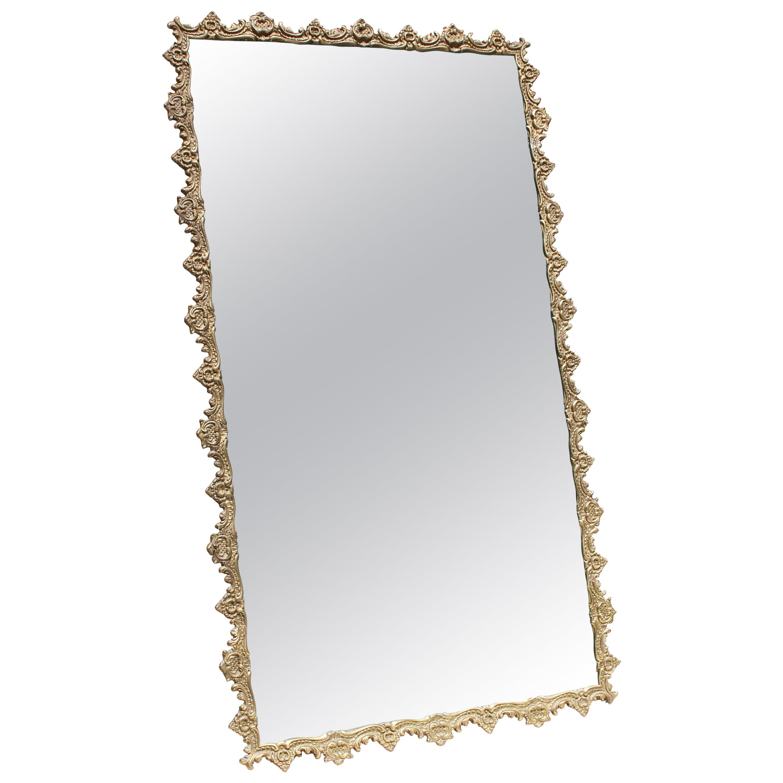 Franch Art Deco Cast Bronze Mirror