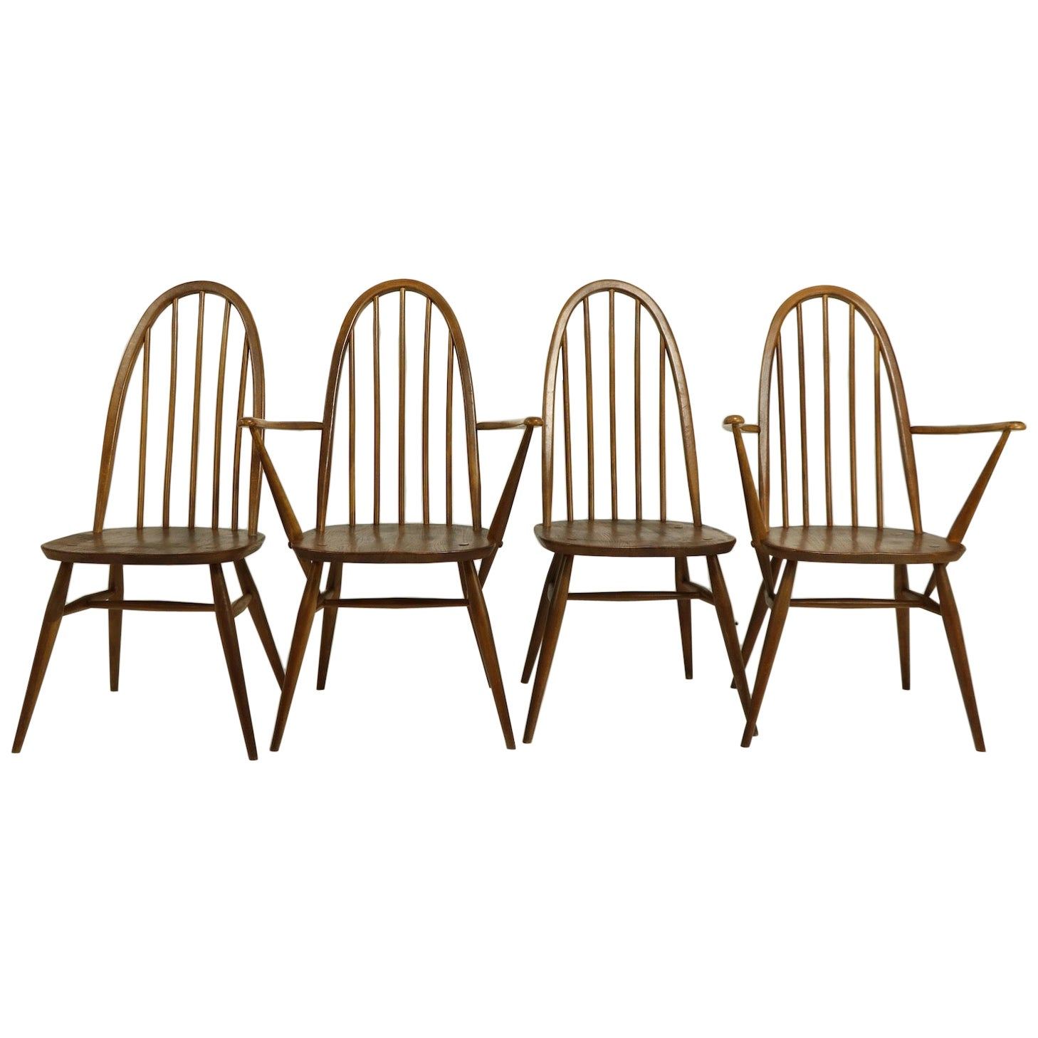 Set of 4 Dining Chairs by Lucien Ercolani for Ercol, England
