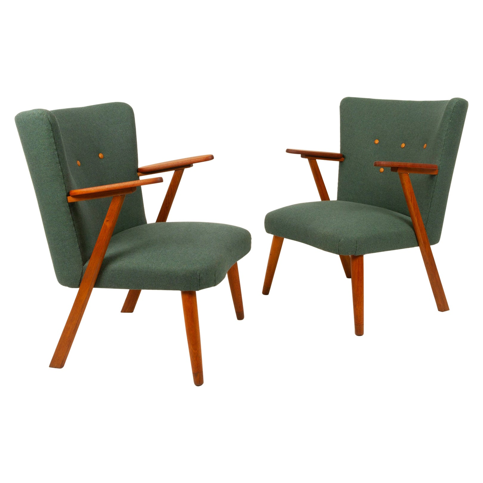 Danish Pair of Vintage Lounge Chairs, 1960s