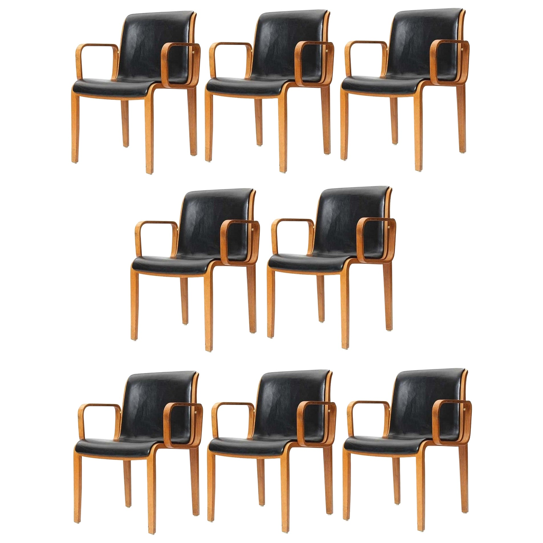 Eight Vintage Armchairs by Bill Stephens for Knoll