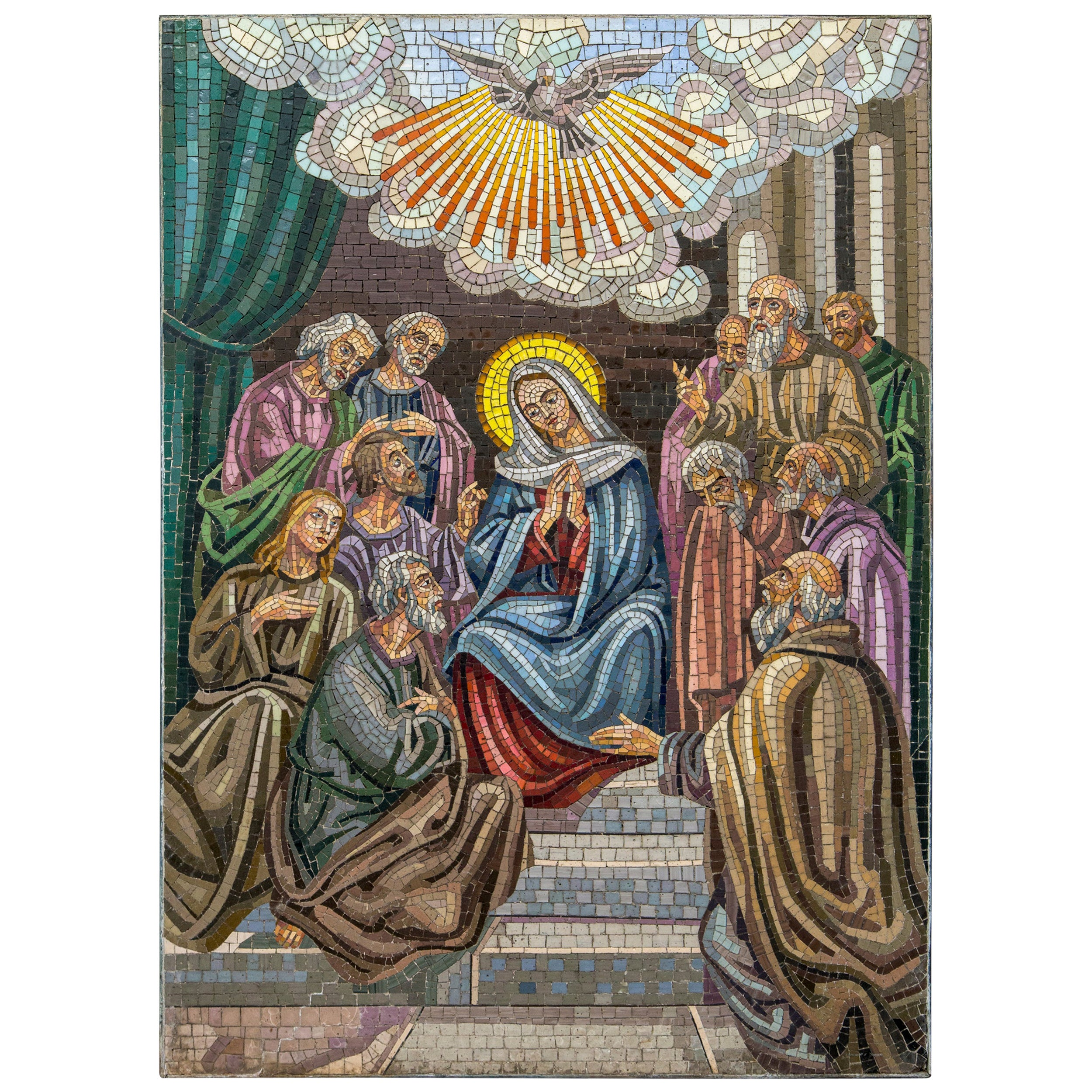 Mosaic of the Virgin and Apostles