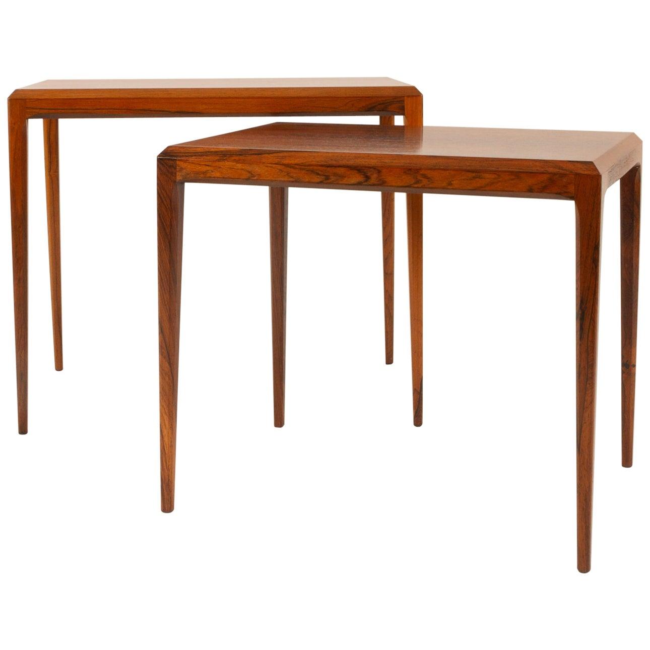 Johannes Andersen Nesting Tables by CFC Silkeborg Denmark, 1960s