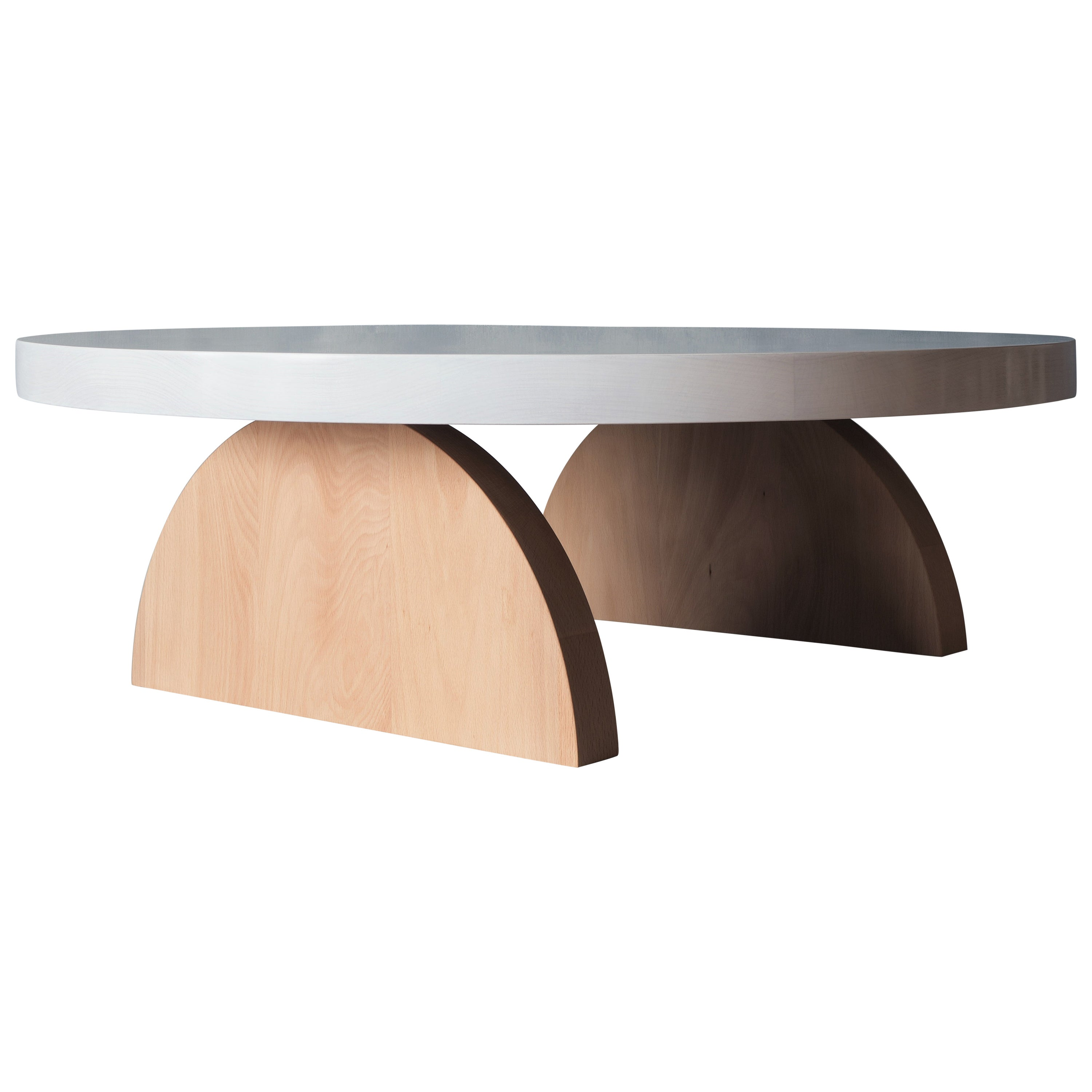 Low Round Coffee Table by MSJ Furniture Studio