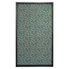 Framed 19th Century Floral Wallpaper Panel, Velvet Musk