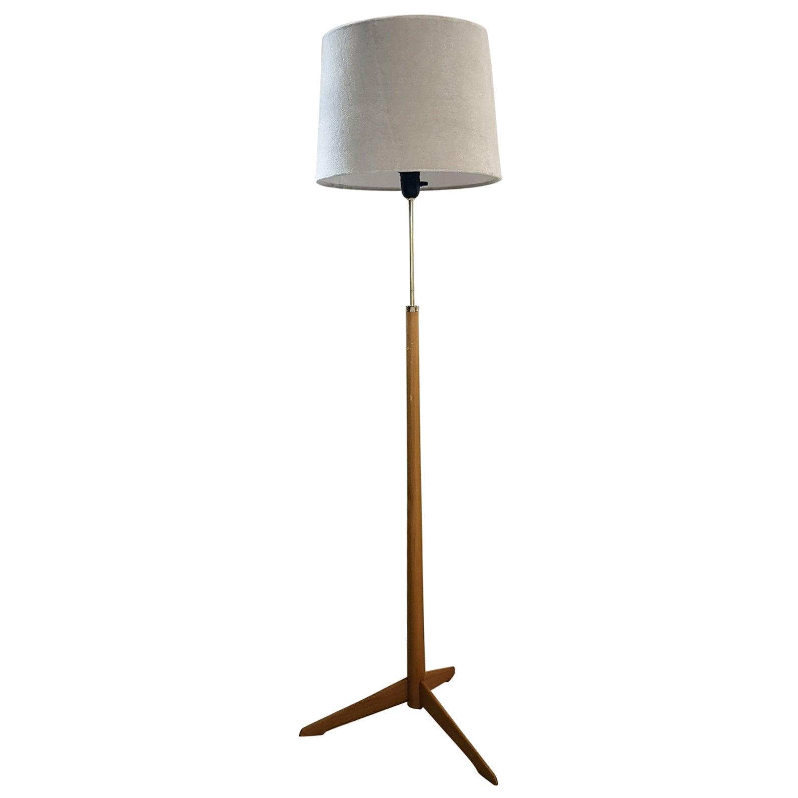 Midcentury Floor Lamp, Model G-34, Bergboms, Sweden, 1960s