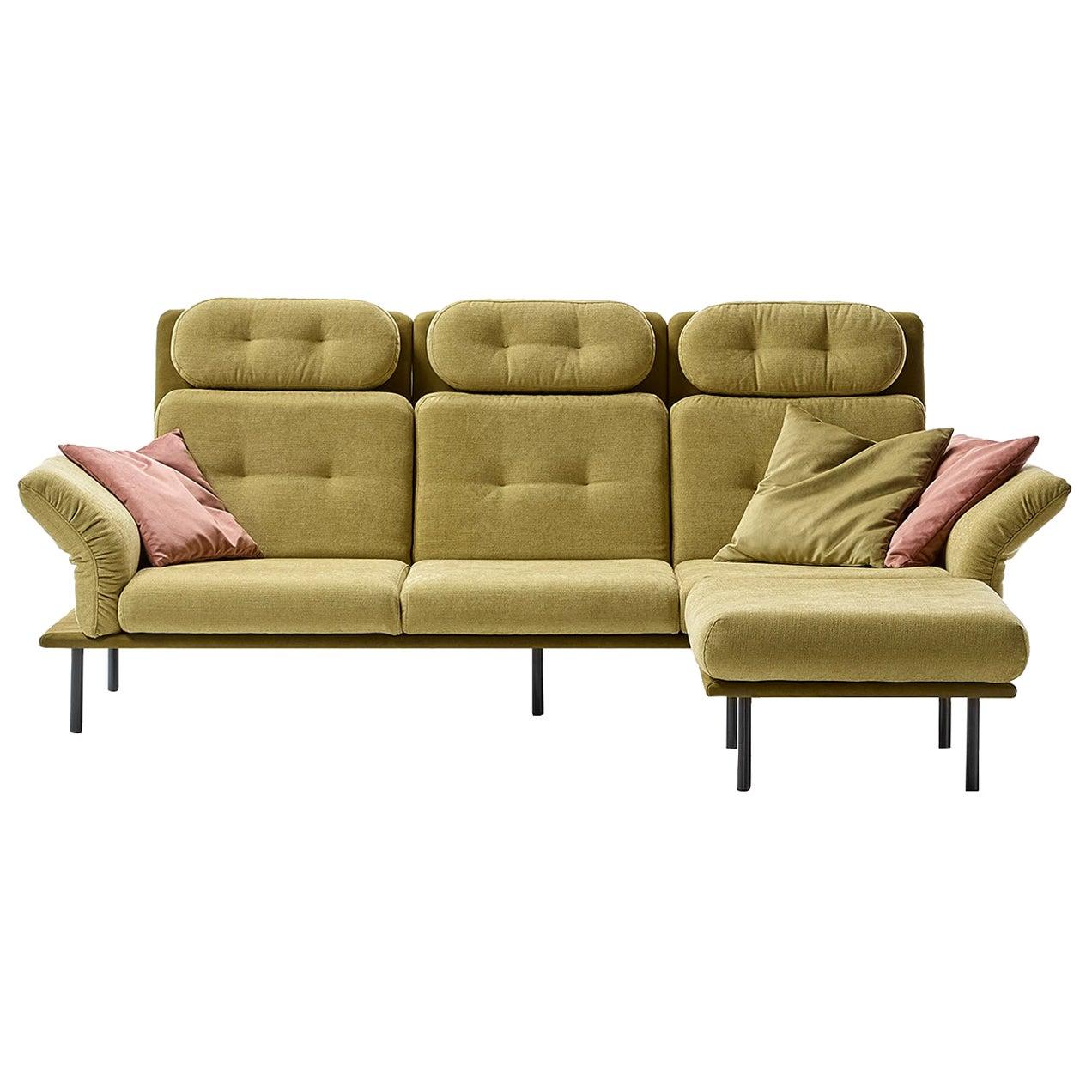 Ukiyo 3-Seat Sofa with Pouf