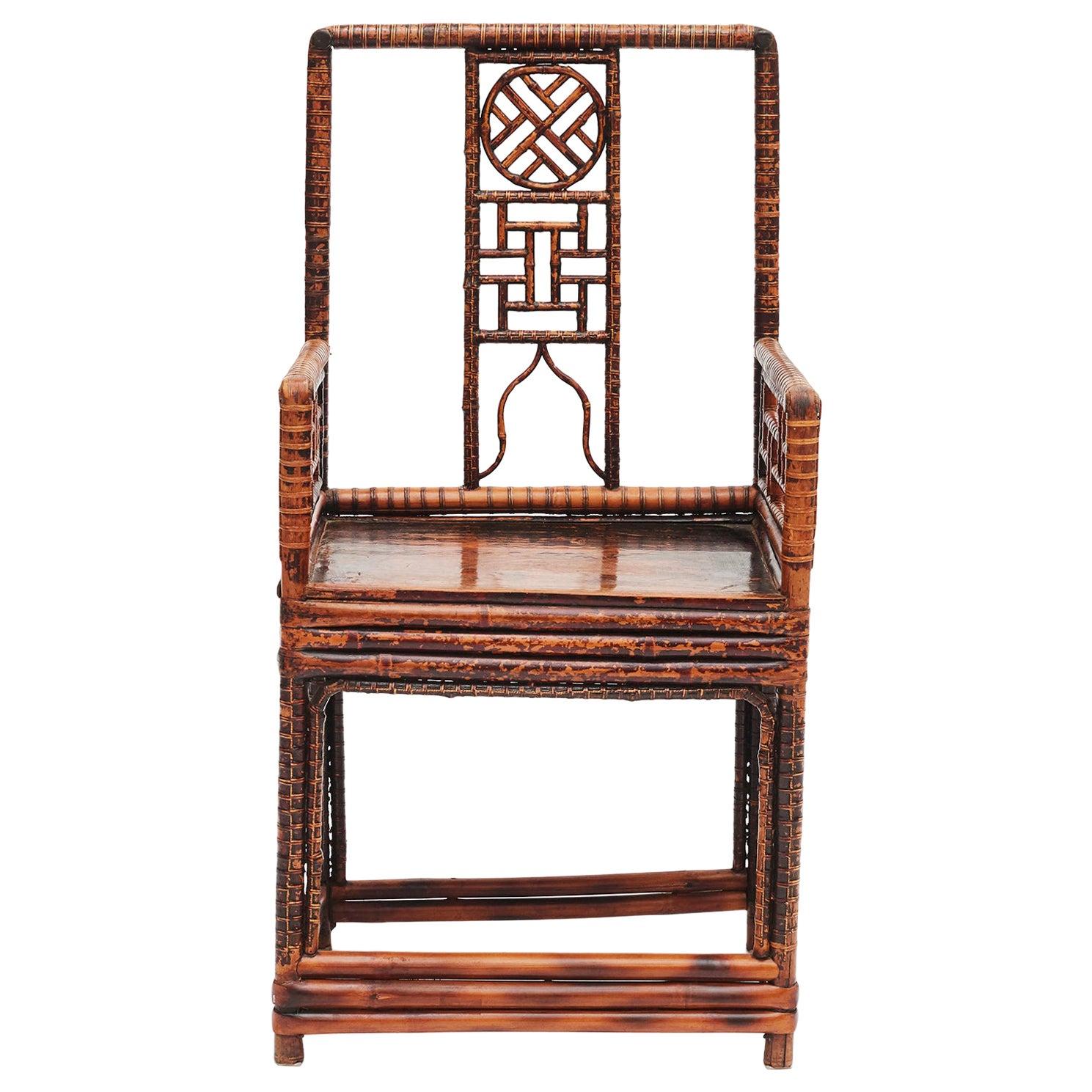19th Century Chinese Bamboo Armchair
