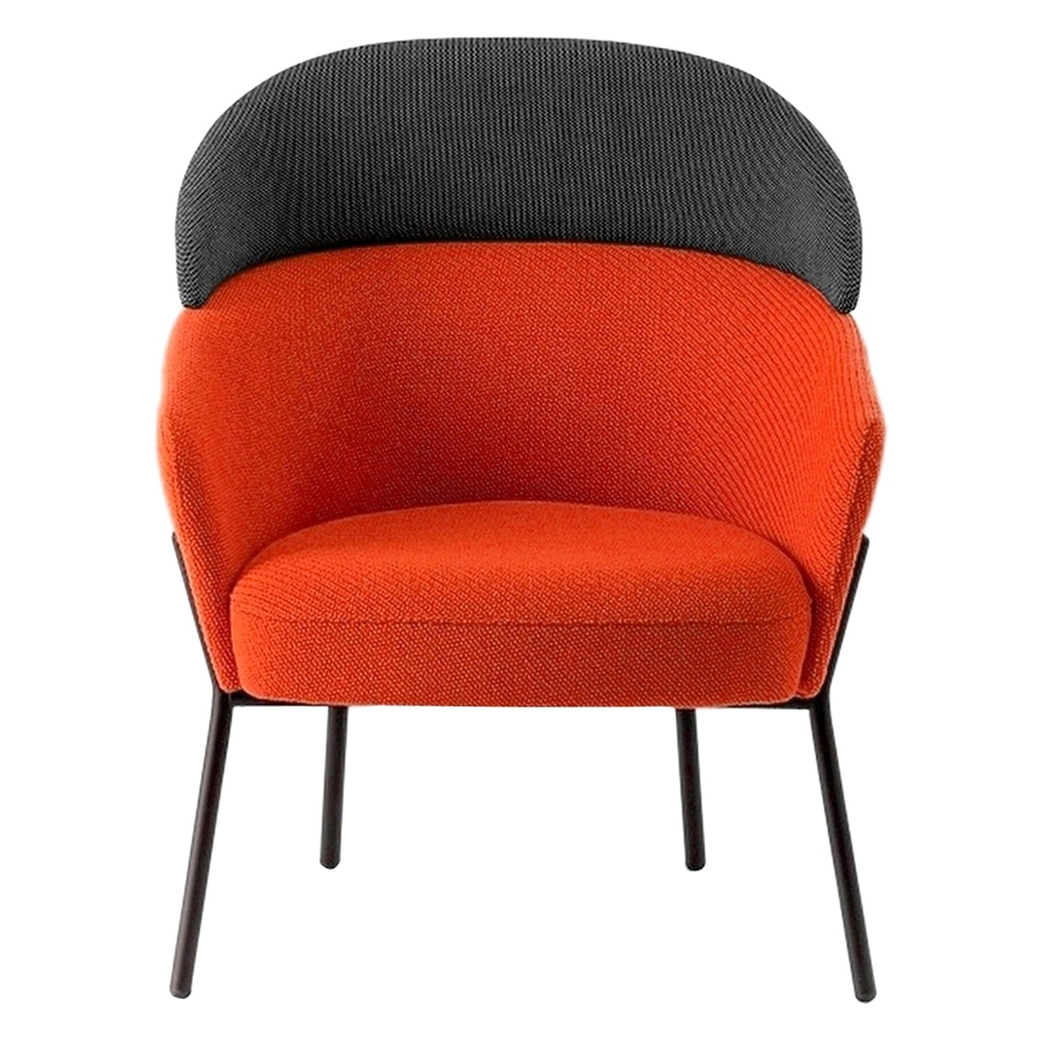 In Stock in Los Angeles, Red  Wam Lounge Chair by Marco Zito, Made in Italy