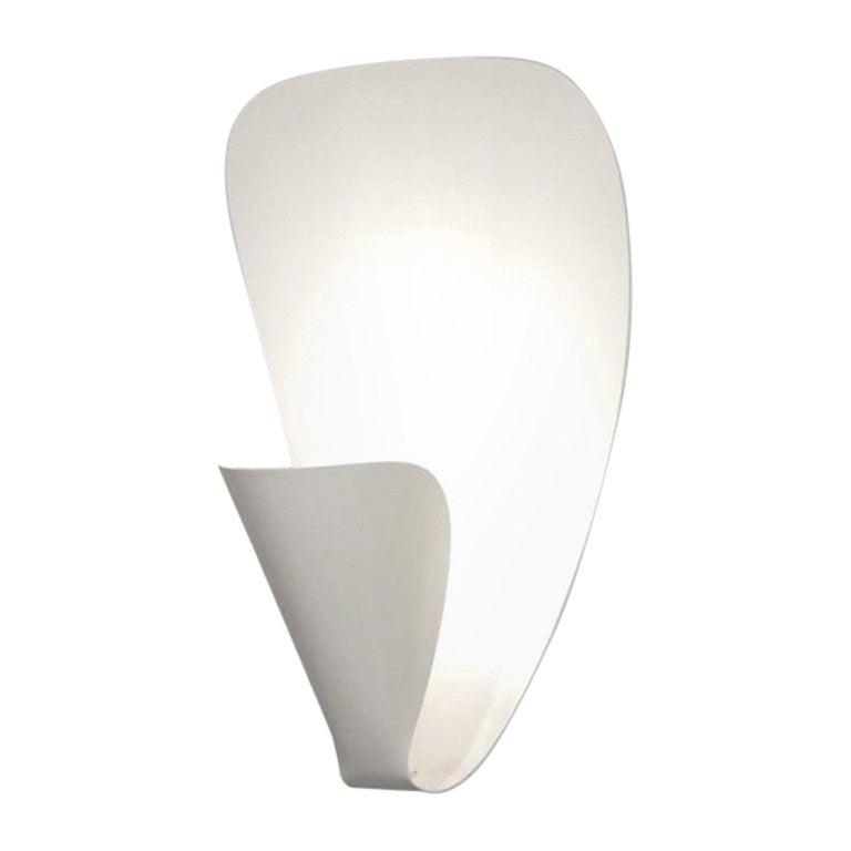 Michel Buffet Mid-Century Modern White B206 Wall Sconce Lamp