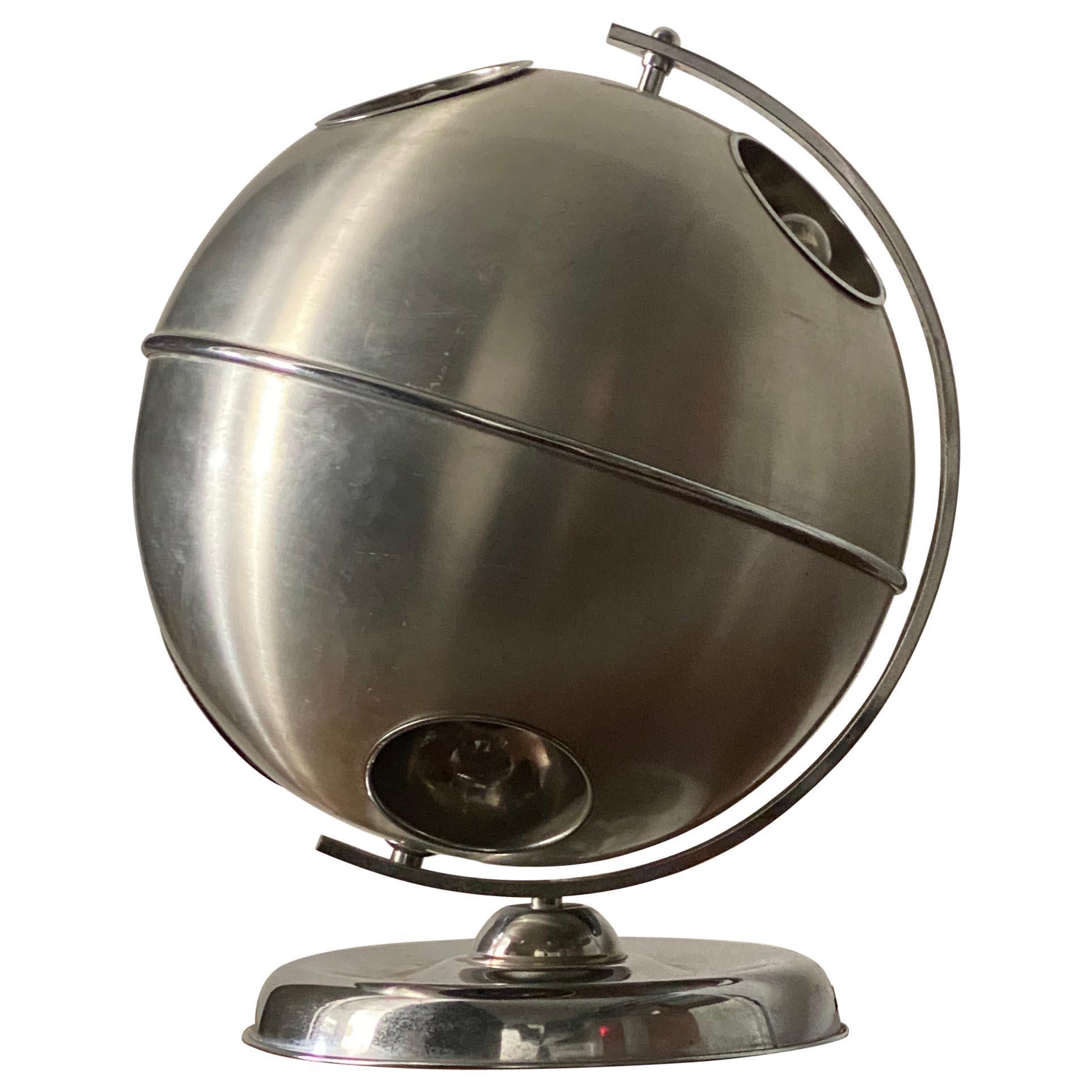 Italian, Adjustable Modernist Table Lamp, Steel, Italy, 1950s